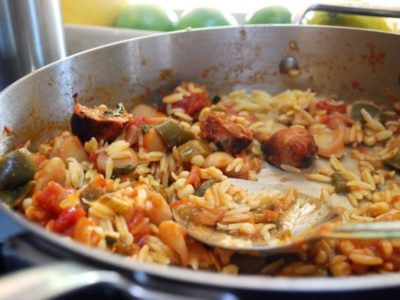 Chorizo Jersey Corn and Orzo recipe