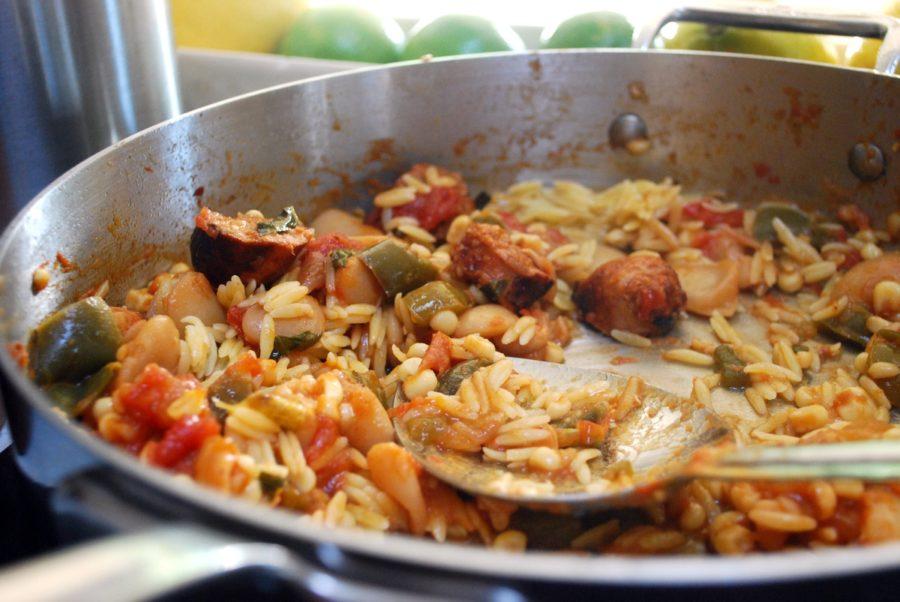 Chorizo Jersey Corn and Orzo recipe