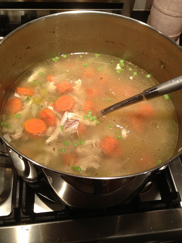 Big pot of Chicken Soup