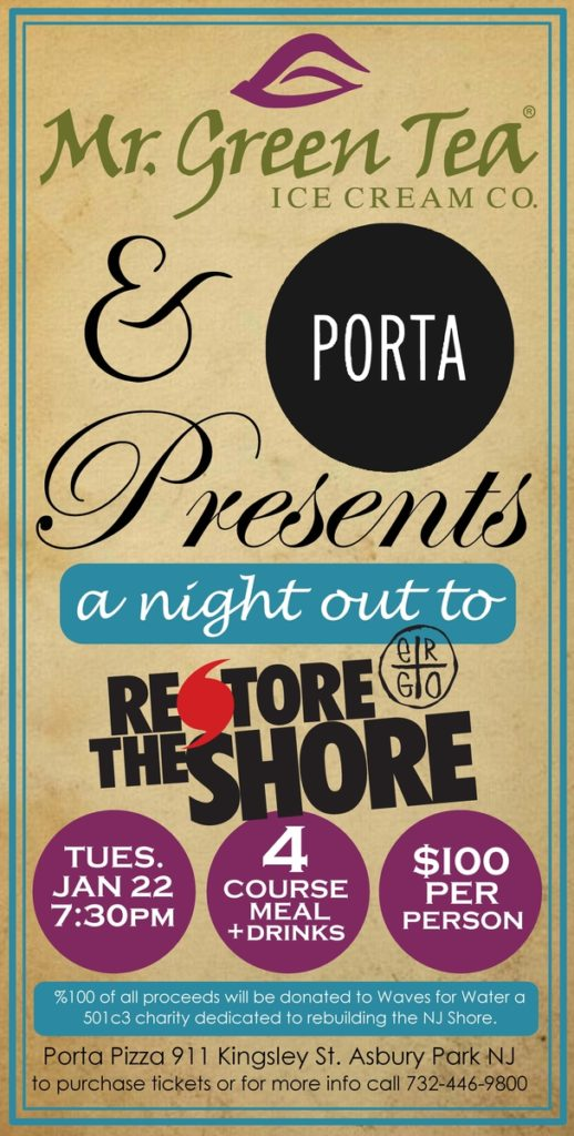 A Night Out to Restore the Shore, Jan. 22nd
