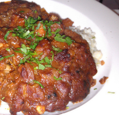 Beef Ossobucco over risotto2