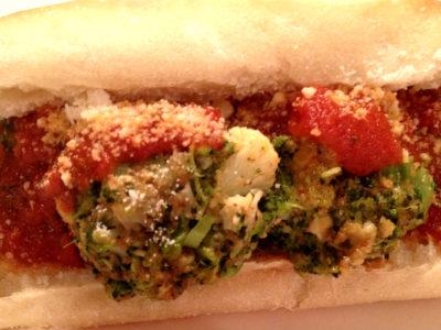 vegetarian meatball sandwich