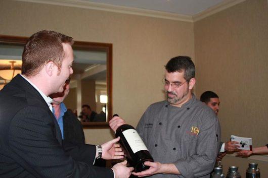Dan Tindall presenting Chef Masey