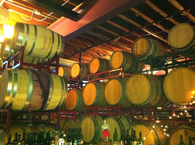 barrels of Wine at Winemakers in Hawthorne