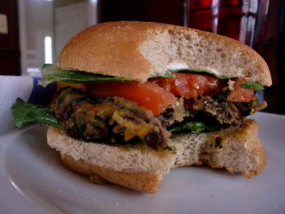 sweet potato black bean burger