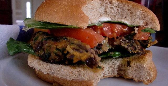 sweet potato black bean burger