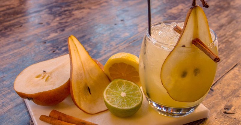 Halloween cocktail recipes Spiced Pear Margarita