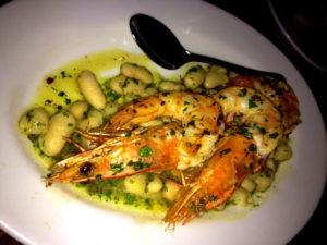 Gamberetti e Fagioli, Zeppoli, shrimp, cannellini beans