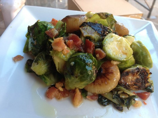 Maple Roasted Brussels Sprouts with Pancetta recipe