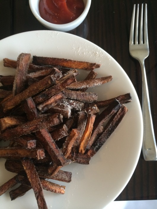 Sweet potato fries at twofiftytwo in Bedminster