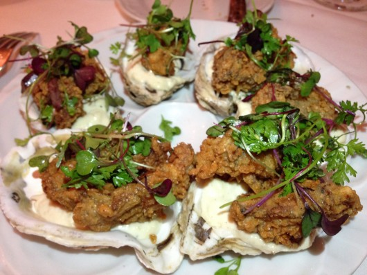 Cornmeal crusted oysters, CulinAriane, photo courtesy of Eat with Dan