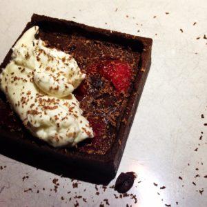 Chocolate & Raspberry Clafoutis, Satis Bistro, Jersey City, Jersey Bites