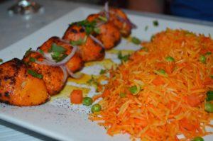 Bright Colors of the Chicken Tikka Kabob