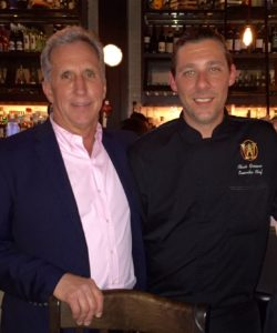 Host Jack Morrission  and Witherspoon Grill Executive Chef Chris Graciano.
