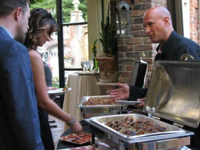 Montclair Food and Wine Gala chef serving guest