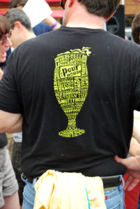 Repeat Pour-a-Palooza attendees wear their old shirts as a badge of honor.