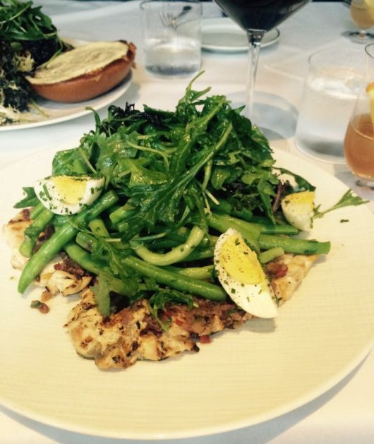 Chicken paillard Nicoise, Ryland Inn, Jersey Bites, Jennifer Miller