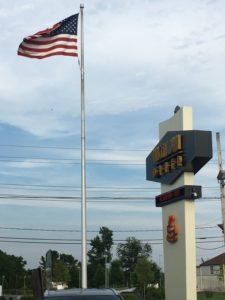 Vincentown Diner_sign w:American flag