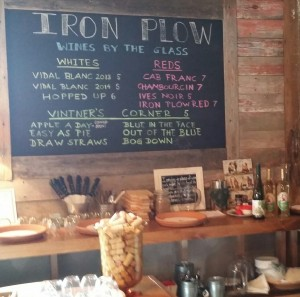 Iron Plow Blackboard Menu