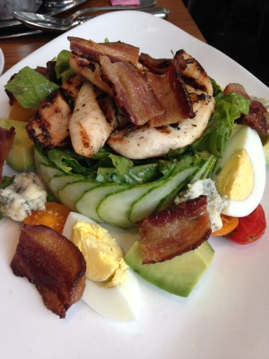 Cobb Salad at Restaurant Serenade, Jersey Bites