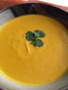 Curried Coconut and Carrot Soup
