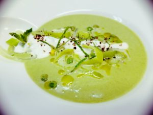 Ricotta Green Pea Soup