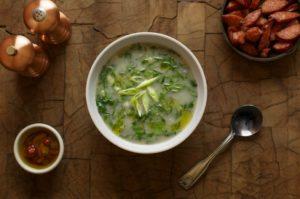 Samba Potato Collard Greens Soup
