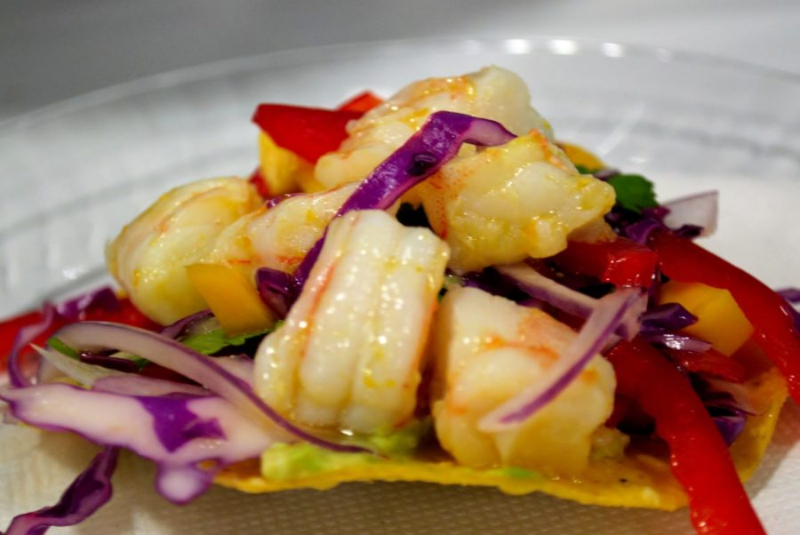 Shrimp Ceviche with Mango Slaw