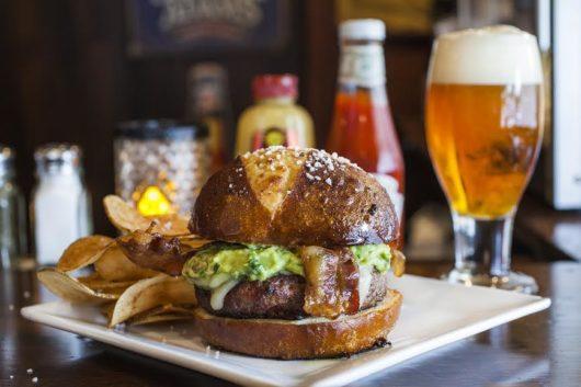 Bacon Fusion Burger, Cloverleaf Tavern, Jersey Bites