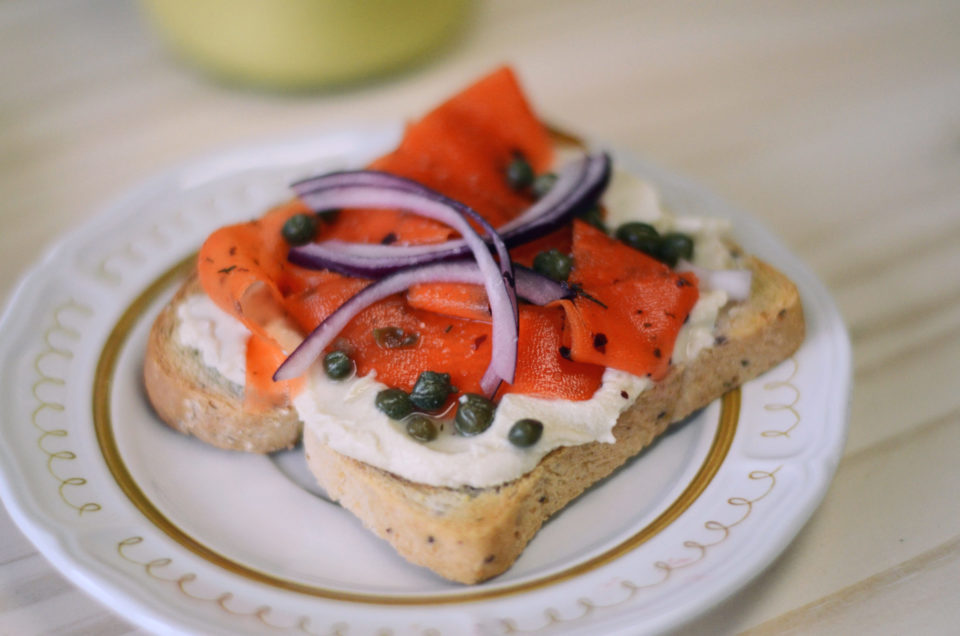 Carrot lox toast, Seed to Sprout Bakery, Jersey Bites