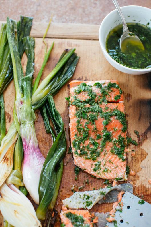 Onions Etcetera, Cookbook, Salmon dish, Jersey Bites