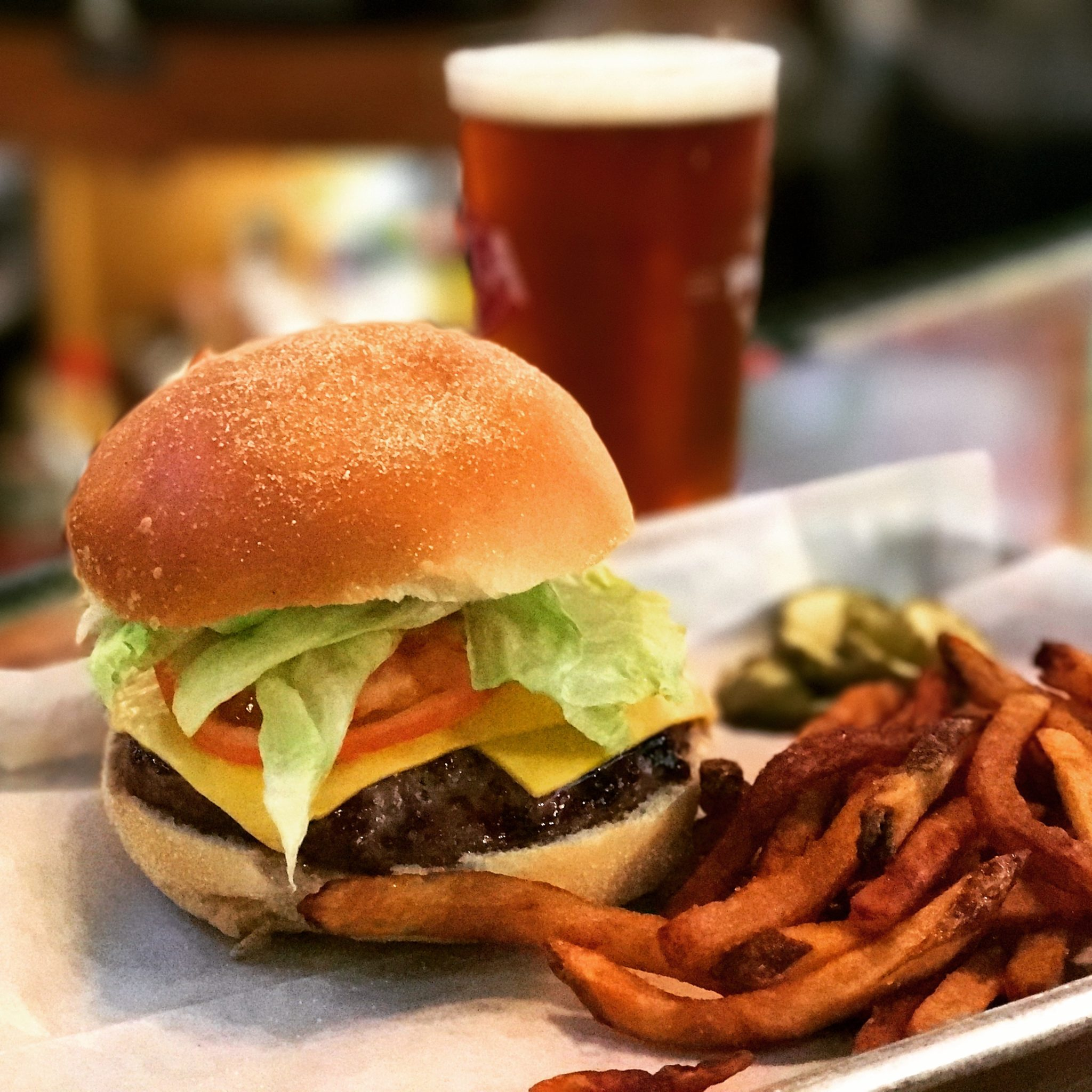 The Linwood Inn's award winning burger