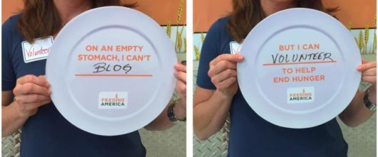 Hunger Action Month plates