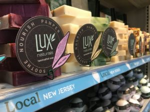Lux soaps on shelf at WholeFoods