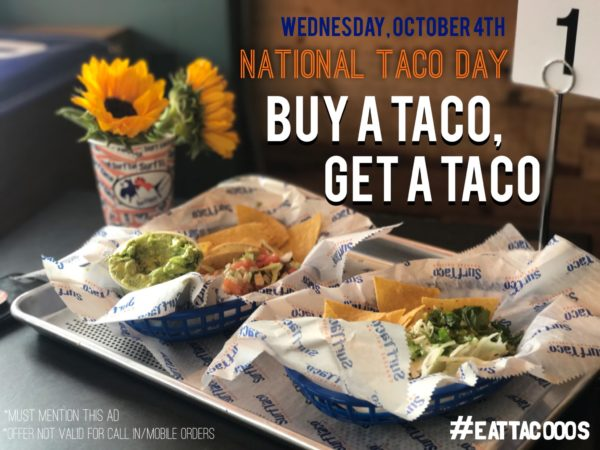Surf Taco Special for National Taco Day