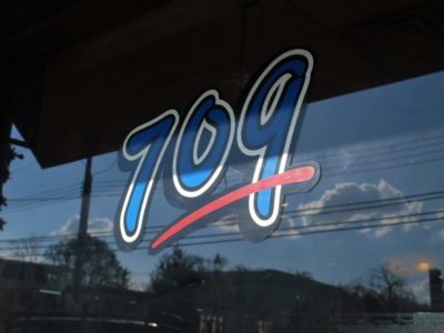 709 restaurant front window