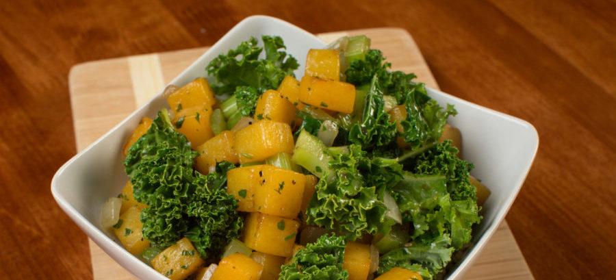 Butternut Kale Hash recipe