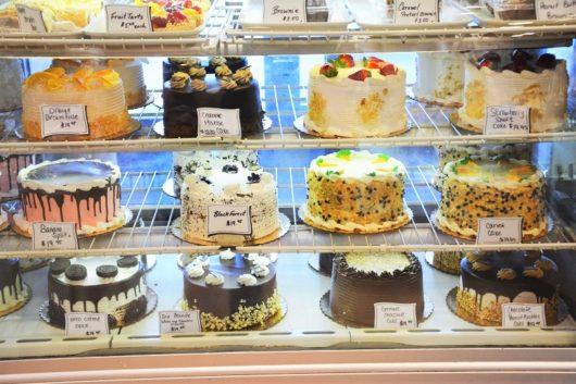 Cakes on display at Mastoris Diner. Jersey Bites, Michael Gabriele