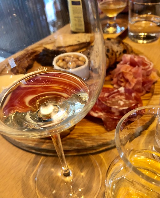 Charcuterie and Cheeseboard + Glass of Sancerre