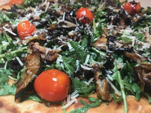 Wood-fired salad pizza, Charlie's of Bay Head, A Lady Walks into a Bar, Jersey Bites