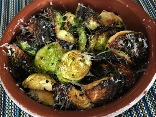 Charred Brussels Sprouts at Albarino Shrewsbury NJ