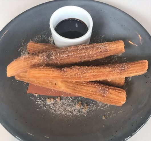 churros at Albarino in Shewsbury