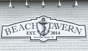 Beach Tavern Monmouth Beach Sign