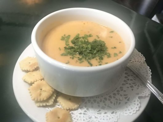 Seafood bisque, Parker House, A Lady Walks into A Bar, Gabrielle Garofalo, Jersey Bites