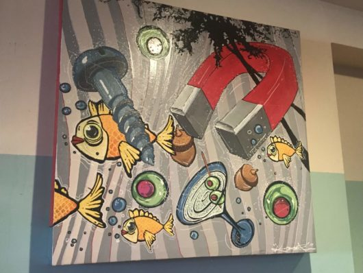 Dive! Coastal Bar & Food Joint, local artwork, Gabrielle Garofalo, Jersey Bites