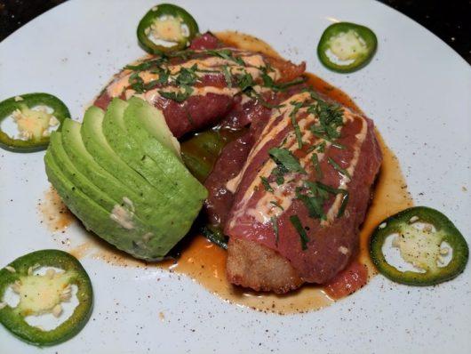 Copper Canyon tuna and avocado empanadas
