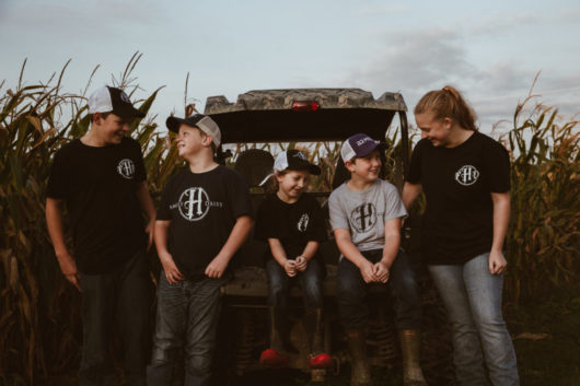 Kids on the Hourigan Family Farm