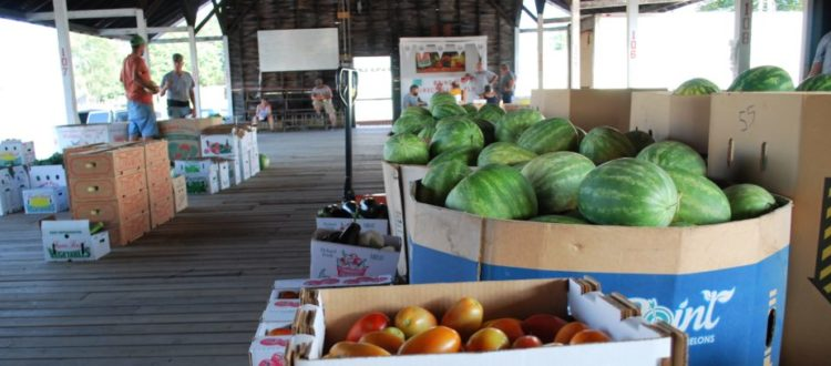 Tri County Coop produce on dock