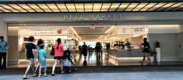 Entrance to Bell Market in Holmdel New Jersey