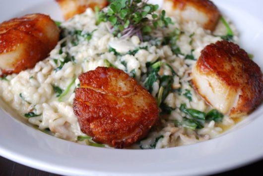 Scallops with risotto, Tuna crudo dish, NJ Chef Profile Series, Meg LaManna, B2 Bistro + Bar, Point Pleasant Beach, Jersey Bites